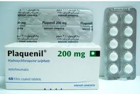 Plaquenil  Hydroxychloroquine sulphate 200mg  Sanofi 100	Tablets